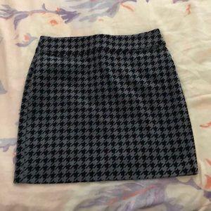 Banana Republic corduroy houndstooth skirt